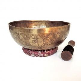 Cuenco tibetano 7 metales grabado grande s