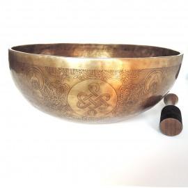 Cuenco tibetano 7 metales grabado grande XL