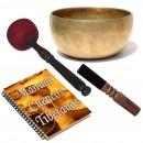 Pack cuenco tibetano antiguo Thado xxs manual y 2 baquetas