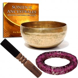 Pack cuenco tibetano cojin y cd sonidos ancestrales